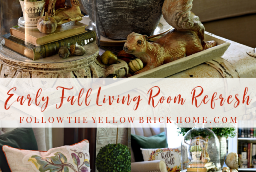 Early Fall living room decor