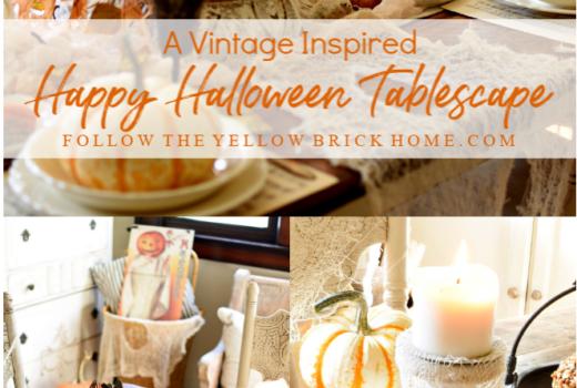 vintage Halloween tablescape
