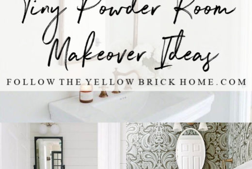 Tiny Powder Room Makeover Ideas One Room Challenge
