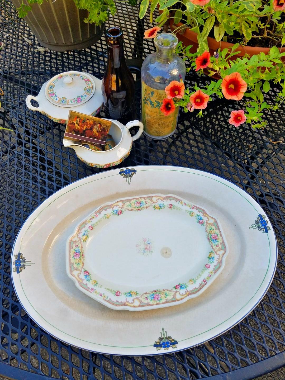 beautiful vintage ironstone platters