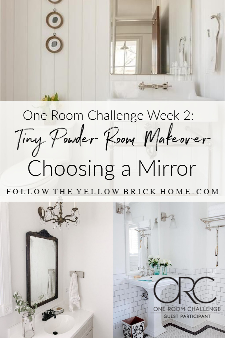 one room challenge tiny bathroom makeover ideas mirrors for small bathrooms