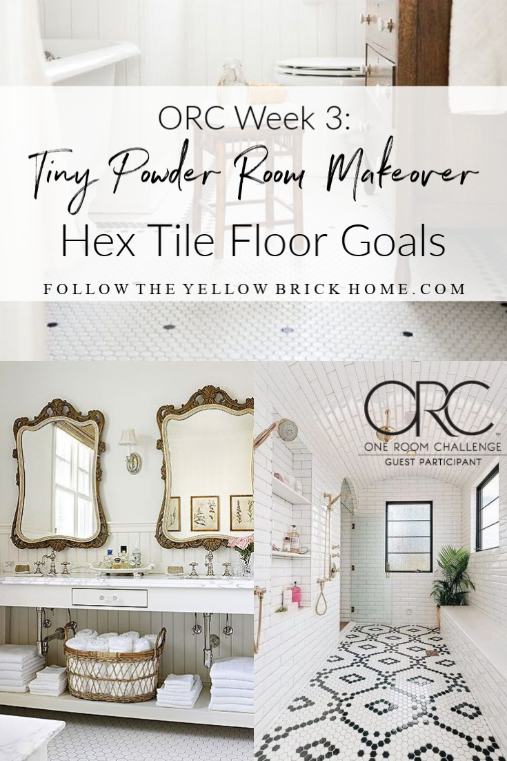 vintage hex tile floors hex tile bathroom floors