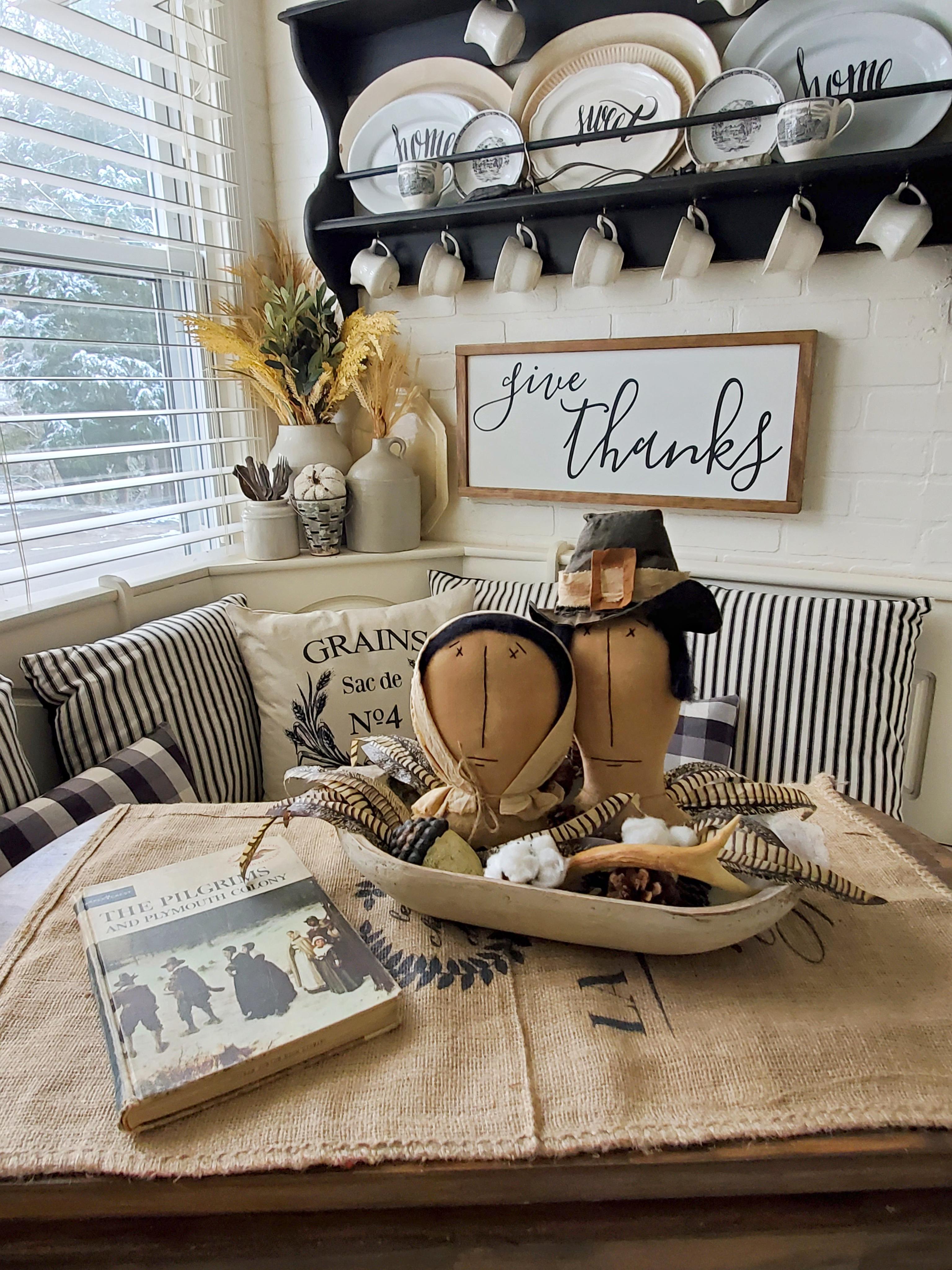 Primitive pilgrims Thanksgiving decor farmhouse Thankgiving Farmhouse sign
