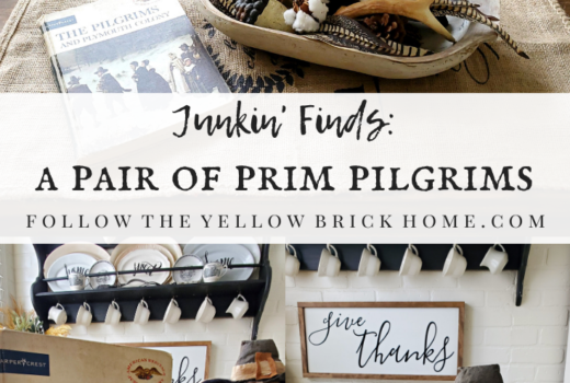 Junkin' Finds a Pair of Prim Pilgrims Thanksgiving Primitives