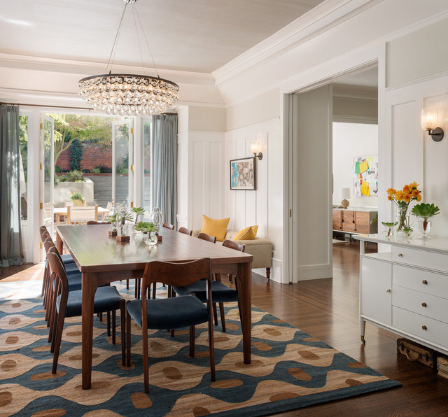 gorgeous area rug light and bright dining room ideas