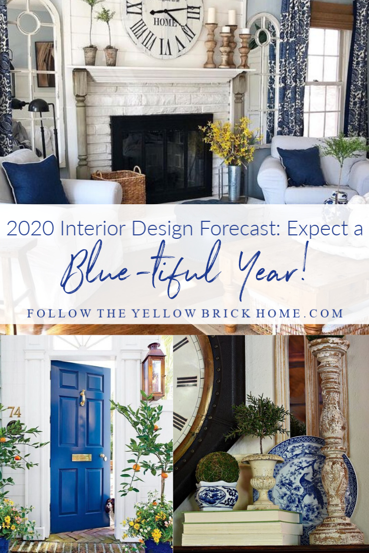 Interior Design Trends 2020 Blue color of the year blue decor
