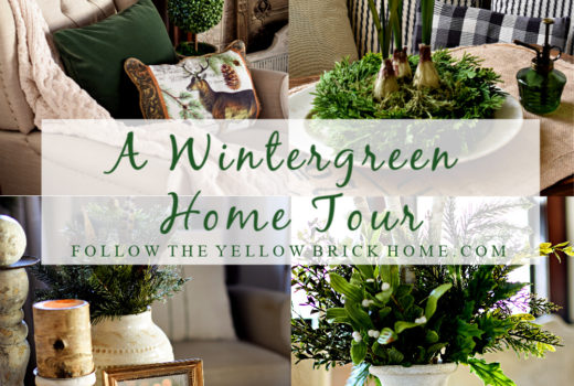decorating with greenery for winter Beautiful winter home tour with greenery