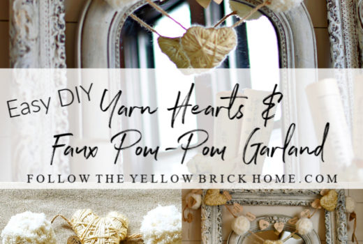 Easy Diy Yarn Hearts and Faux Pom-Pom Garland