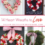 heart shaped wreaths heart wreaths heart wreath ideas DIY heart wreaths Valentine's Day Heart Wreath ideas