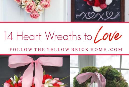 heart shaped wreaths heart wreaths heart wreath ideas DIY heart wreaths Valentine's Day Heart Wreath ideas