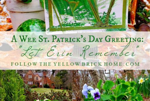 St. Patrick's Day Decor Oxalis Shamrocks Vintage St. Patrick's Day vignette vintage St. Patrick's Day postcard
