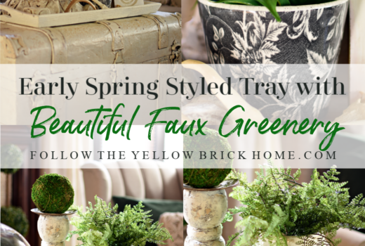 Early Spring Styled Tray Ideas How to decorate with faux greenery and plants
