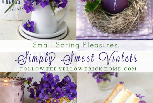 Simply sweet violets spring decorating with violets