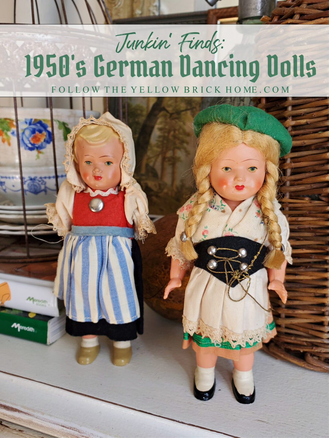 1950's German Dancing Dolls vintage wind-up dancing dolls West Germany Celluloid Dancing doll