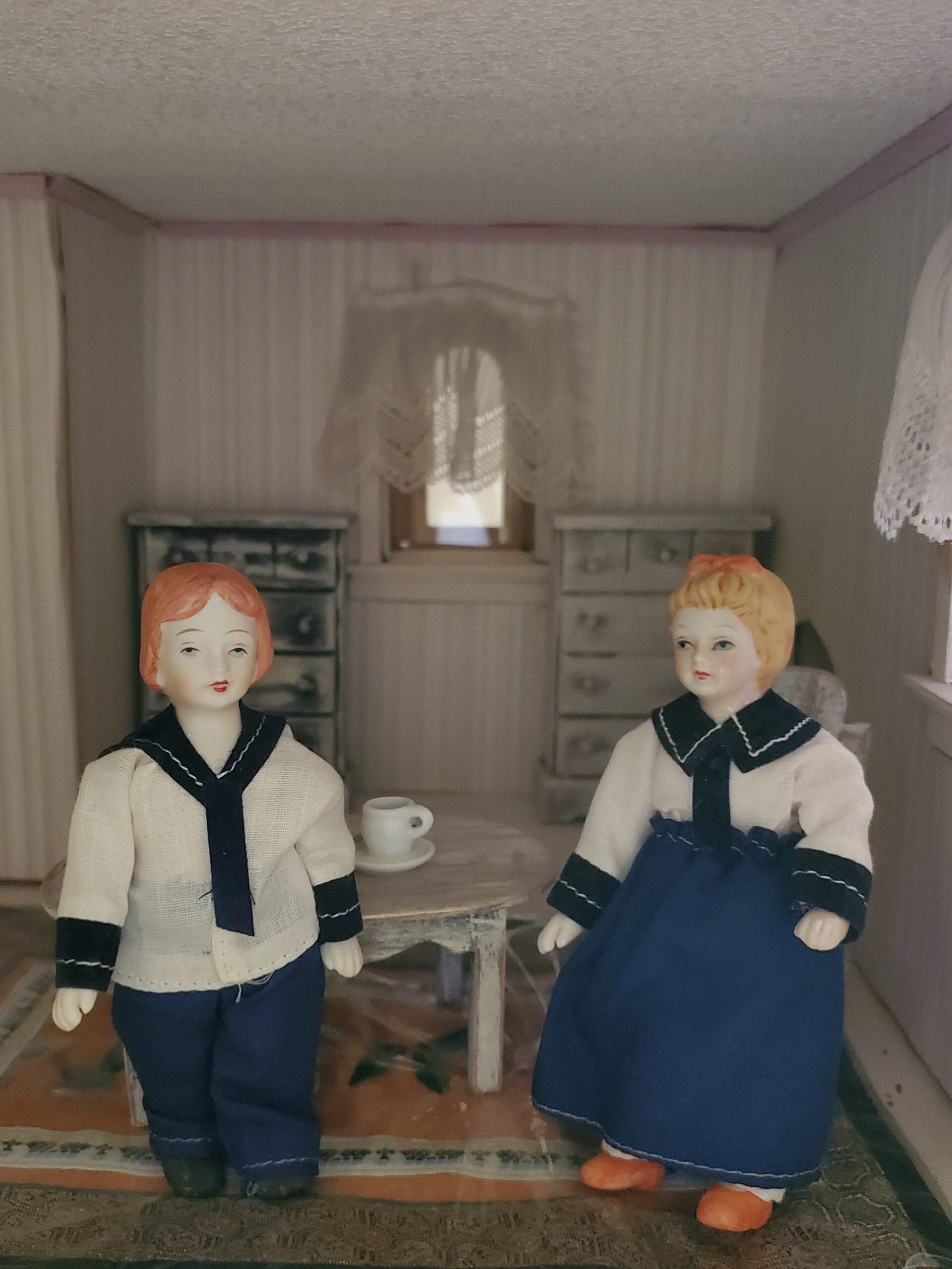 vintage bisque dolls in sailor suits nautical dolls vintage dollhouse dolls