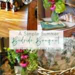 summer bedroom ideas simple summer bouquet for bedside table or nightstand