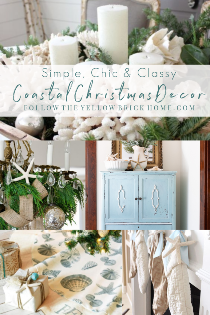 Follow The Yellow Brick Home Simple Chic And Classy Coastal Christmas Decor Beach Christmas