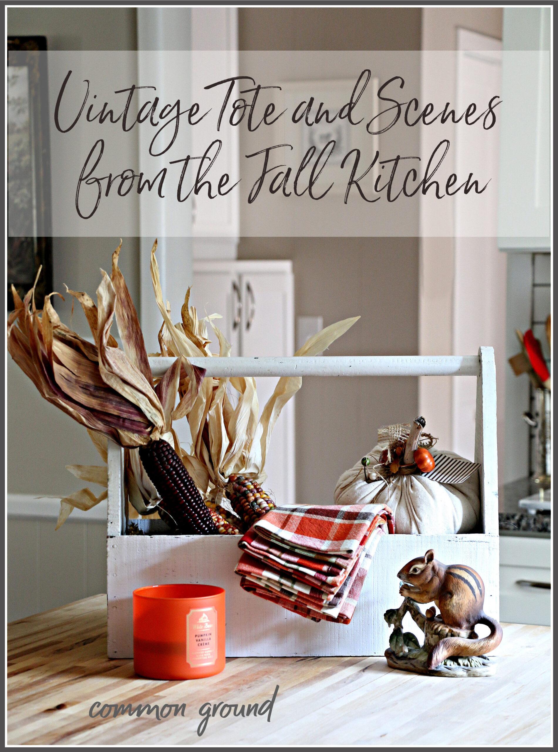 Fall tote fall kitchen vintage fall decor