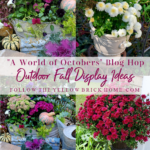 outdoor fall displays fall garden ideas fall pumpkins, mum, and pansies, vintage fall garden