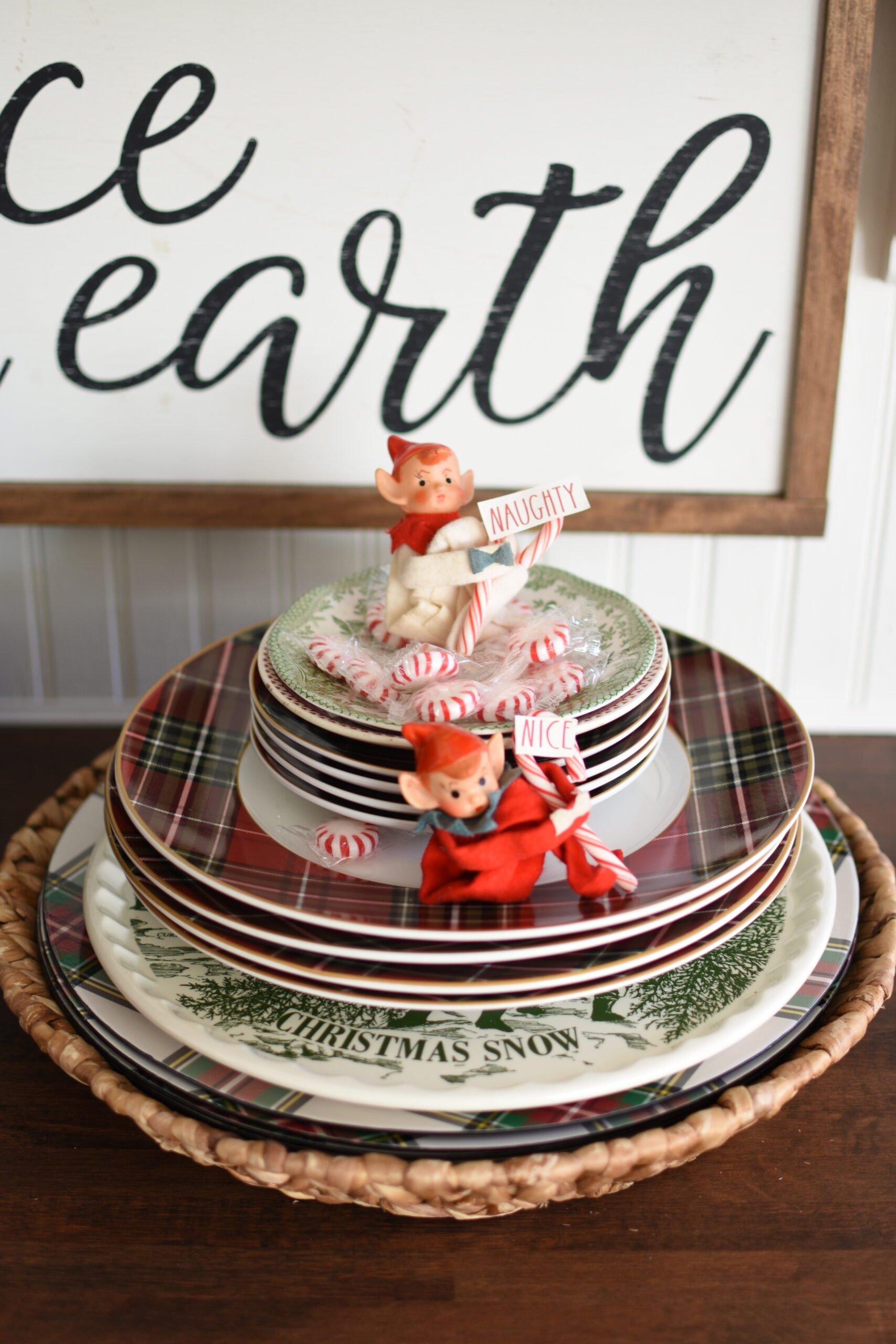 Christmas Knee Hugger Elves Rae Dunn Christmas