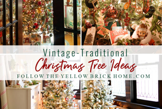 vintage and tradtional Christmas trees vintage Christmas Trees Vintage ornaments classic Christmas trees