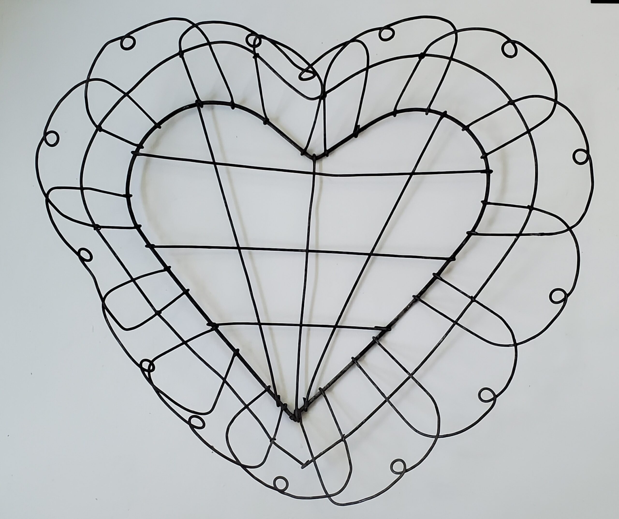 Vintage wire heart basket Valentine's Day ideas