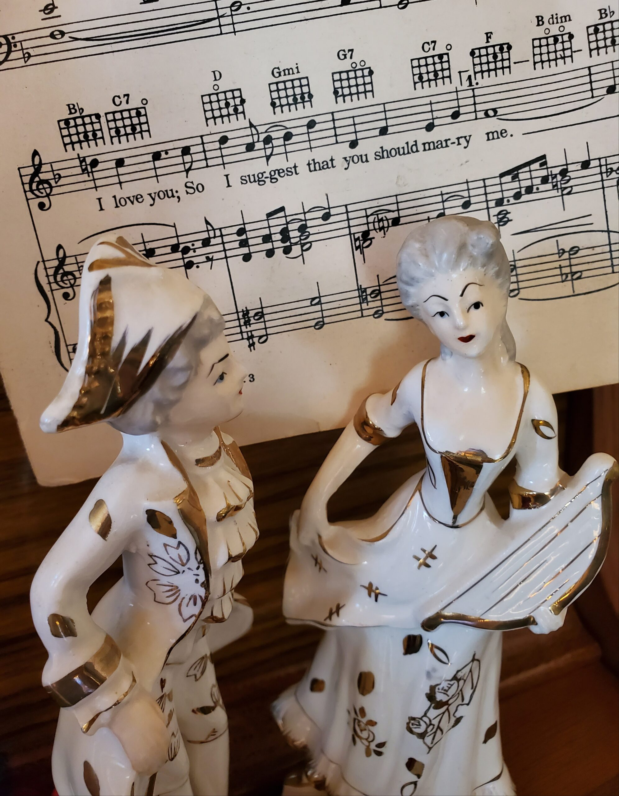vintage French porcelain couple figurines