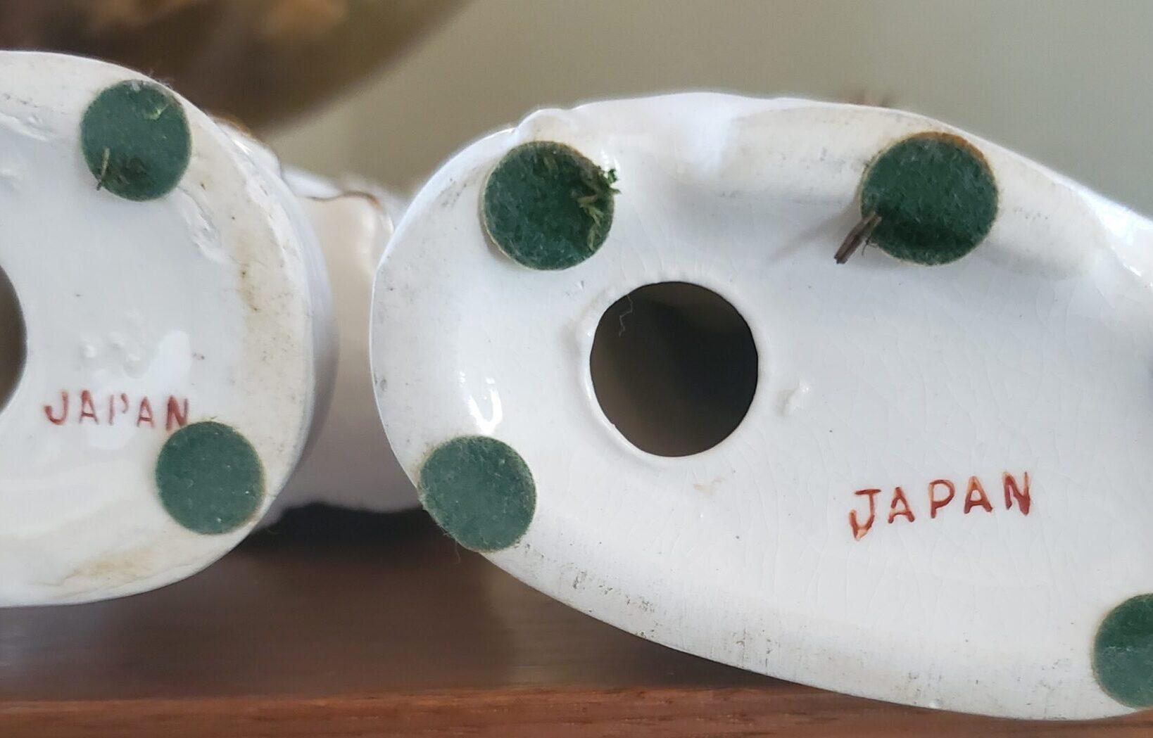 vintage Japan marking on the bottom of porcelain figures
