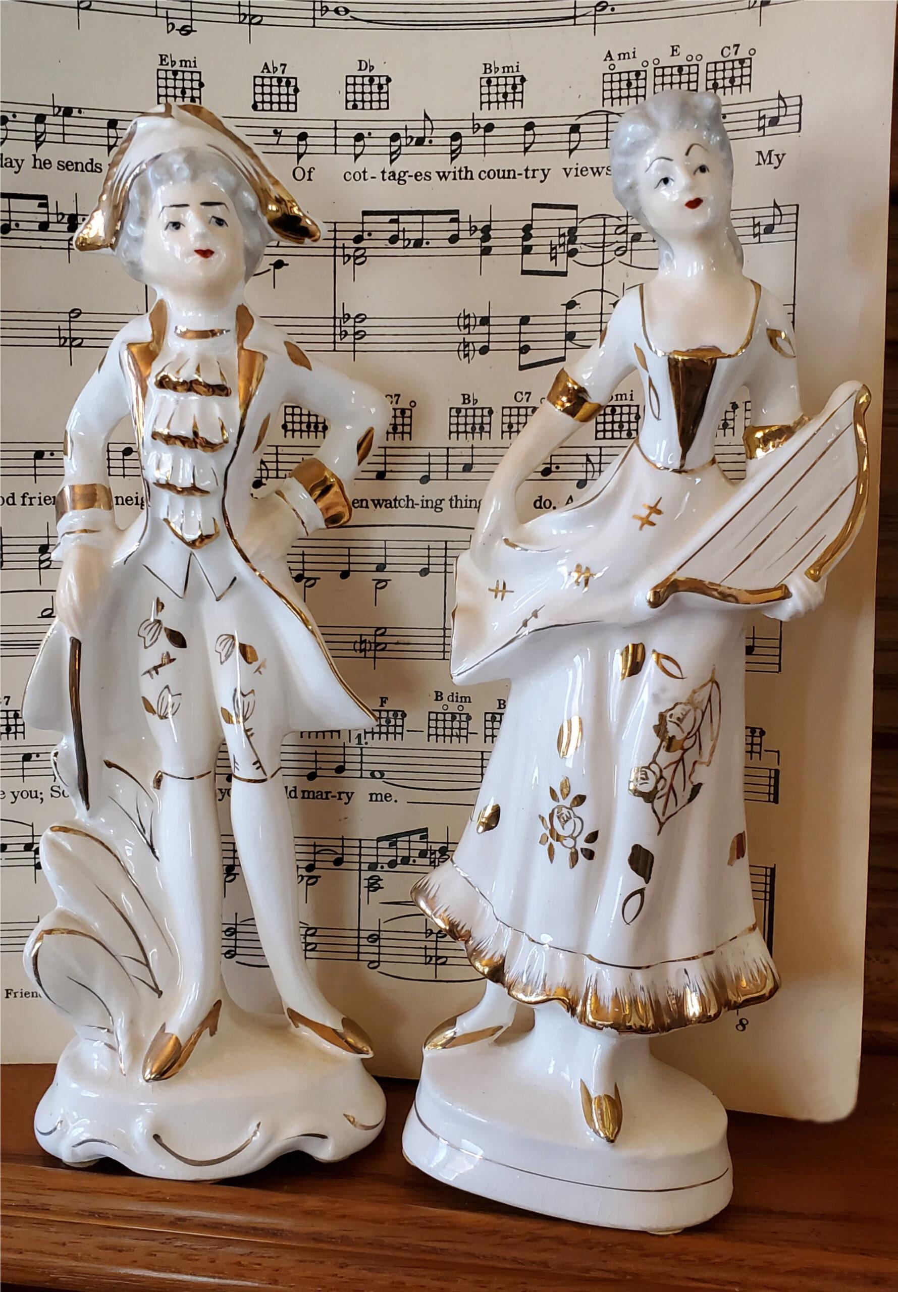 Vintage French Porcelain Figurines