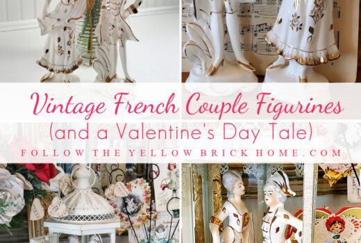 Vintage Porcelain couple French porcelain figurines vintage classical porcelain figures