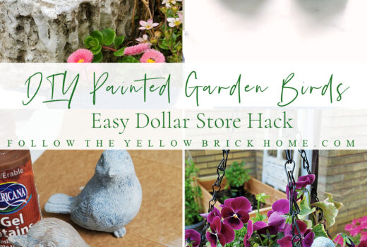 DIY Painted Garden Birds Dollar Store Hack Mother's Day Gift idea