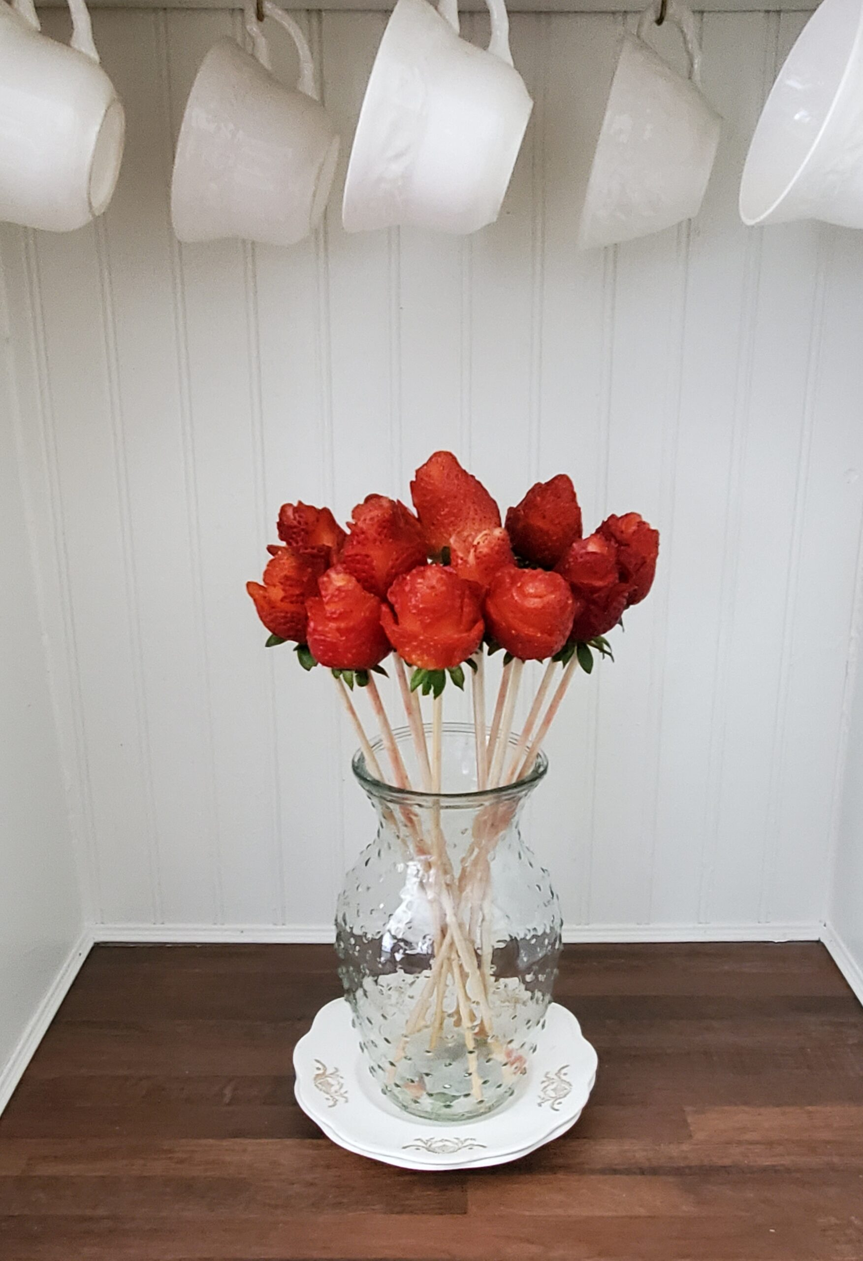 Strawberry roses bouquet strawberry rose tutorial
