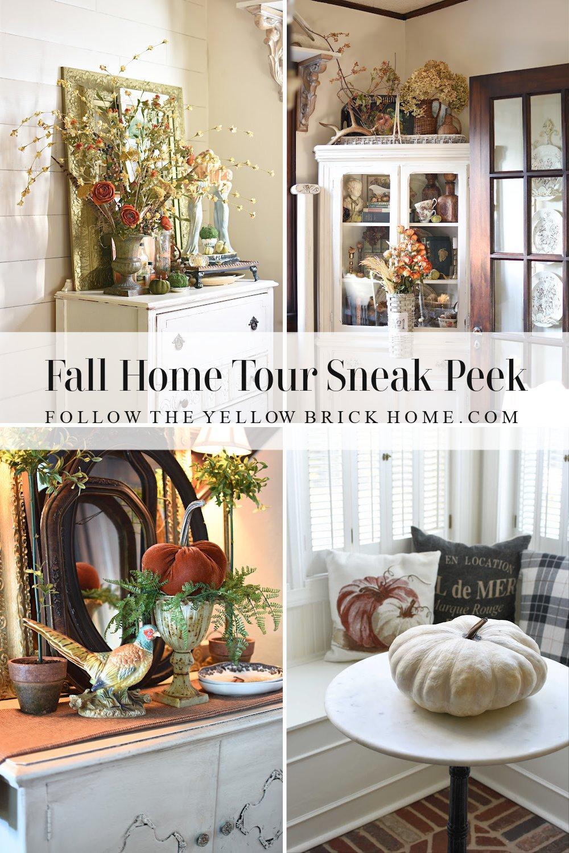 Fall Home Tour Preview fall decor